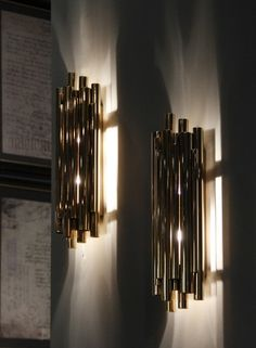 brubeck fixture stilnovo unique pipe organ brass lamp