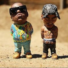 BIGGIE AND TUPAC BOBBLE HEADS