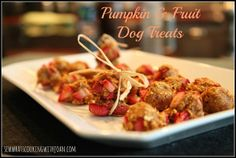 Sew what's cooking with Joan!: Homemade Pumpkin & Fruit Dog Treats!