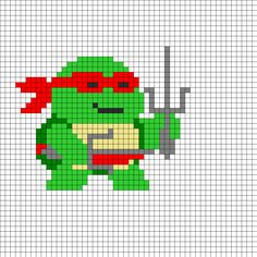 TMNT Raphael Perler Bead Pattern I want to do it with yellow and no weapon. For Hastings!