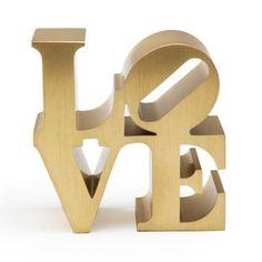 Robert Indiana Mini Love Replica (Gold)