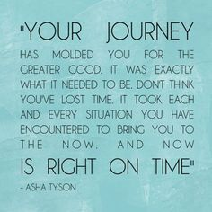 Your journey...is right on time
