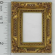 Dollhouse Décor - Dollhouse Miniature Victorian Design Pale Gold Resin Frame *** Want to know more, click on the image.