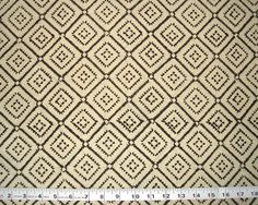 hand printed cotton fabric white motifs on olive by pallavik