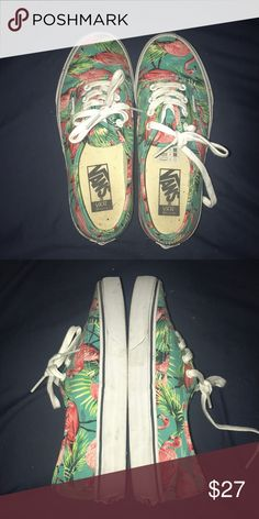 Vans flamingo shoes Vans flamingo shoes, worn once or twice, like new Vans Shoes Sneakers
