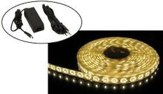 Theluckleds 16ft warm white Waterproof LED flexible strip LED Ribbon + 30Watts LED driver transformer power supply DC12V by Theluckleds. $32.50. Widely used for Exterior & Interior decorations such as house, hotel, clubs, shopping malls, cars. Popularly applied in backlighting, concealed lighting, channel letter lighting, advertisement sign lighting, emergency lighting  Decorative lights for party, event, shows, exhibitions