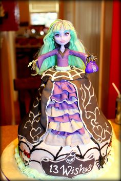 Monster High doll cake Twyla from 13 Wishes collection