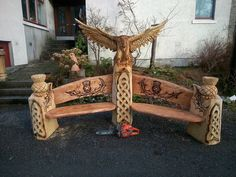 #Wooden #bench By Andy Maclachlan