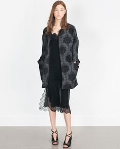 Image 1 of JACQUARD COAT from Zara