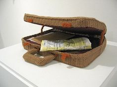Nathan Vincent - crochet briefcase