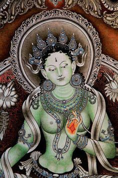 """Green Tara is the """"Mother Earth"""", and a fierce goddess who overcomes obstacles, and saves us from physical and spiritual danger."""