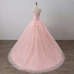 ca7b81e9f5 Vestido de fiesta Rosa princesa Quinceañera vestidos niñas con cuentas  mascarada graduación dulce 16 vestidos de