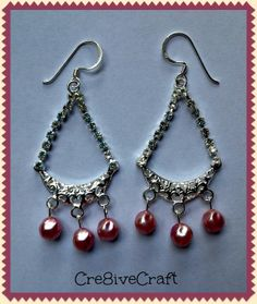 Silver rhinestone earrings by Cre8iveCraft on Etsy, $10.00