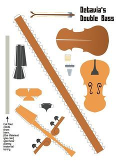 Octavias Cello Papercraft by Kna on DeviantArt