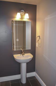 Half bath pedestal sink.