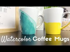 DIY | Tasse aquarelle | Watercolor Coffee Mugs - YouTube