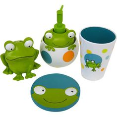 Peeking Frogs 4pc Bath Accessory Set They Come Separately In Store I Dont