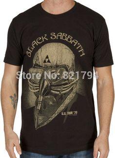 b1a0bf347 Barato Tony Stark Black Sabbath camisa homens T shirt 100% algodão curto  sleeve16 cores logotipo