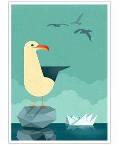 Seagull of Dieter Braun  now on JUNIQE!