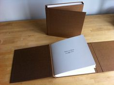 Beautiful handmade albums by Hinged Strung Stitched in Portland