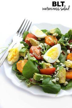 BLT Watercress Salad | thealmondeater.com
