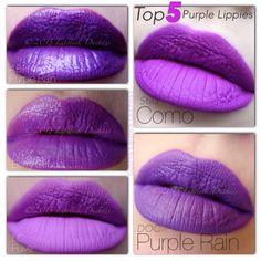 Top 5 Purple LIPPIES Shandy, Purple Lipstick, Nyx Cosmetics, Makeup, Instagram Posts, Strudel, Top, Beauty, Rain