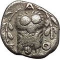 ATHENS Attica Greece 353BC Authentic Ancient Silver Greek Coin ATHENA OWL i53512