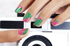 Behind the Scenes: Create the June 2012 Cover Color Block Nails - Technique - NAILS Magazine
