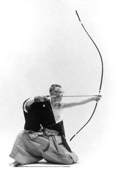 Probably shoots very nicely, but I wonder how fast it shoots. Japanese archery, Kyudo