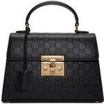 Gucci Black Small GG Lady Padlock Bag