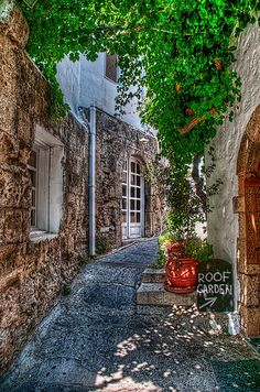Lindos Street - Holiday'ed here ♥ http://www.yourcruisesource.com/two_chefs_culinary_cruise_-_istanbul_to_athens_greek_isles_cruise.htm