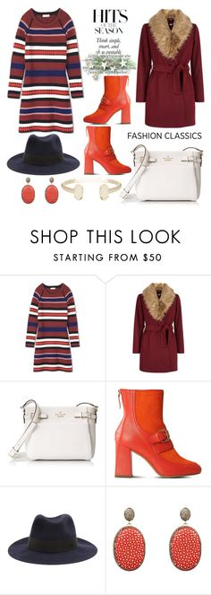 """""""Sweater Dress"""" by hastypudding ❤ liked on Polyvore featuring ASOS, Tory Burch, New Look, Kate Spade, Boutique Moschino, Maison Michel, Latelita and Kendra Scott"""