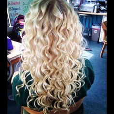 Omg. I want blond and curly hair so bad!