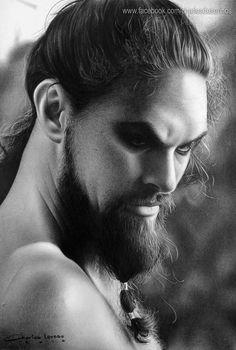Curso de Desenhos Realistas: Khal Drogo. Por Charles Laveso