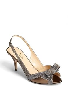 These are adorable. Love them. kate spade new york 'silver' slingback sandal available at #Nordstrom