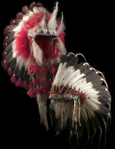 Feathered war bonnets (also called warbonnets or headdresses) are worn by honored Plains Indian men. In the past they were sometimes worn into battle, but most often worn for ceremonial occasions as is the case today. http://bit.ly/WYcqVr