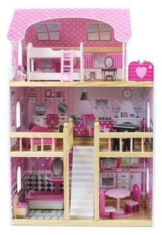 Drewniany domek dla lalek | Zabawki dla dzieci  Lalki i akcesoria | Tytuł sklepu zmienisz w dziale MODERACJA  SEO