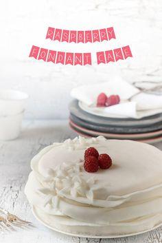 Raspberry Fondant Ruffle Cake