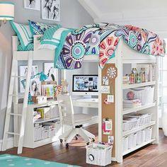 Sleep + Study® Loft | PBteen #BeddingIdeasForTeenGirls