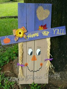 snowman on one side and scarecrow on the other Barn Wood Crafts, Pallet Crafts, Pallet Art, Halloween Wood Crafts, Diy Halloween Decorations, Holiday Crafts, Halloween Palette, Fall Halloween, Halloween Stuff