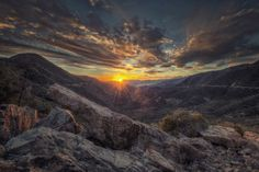 Rocky Valley Sunset, San Gabriel Mountains, California