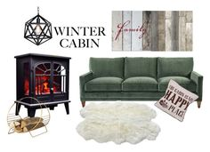 """""""Winter"""" by pamela-802 on Polyvore featuring interior, interiors, interior design, home, home decor, interior decorating, Swan, Luxe Collection and cozycabin"""