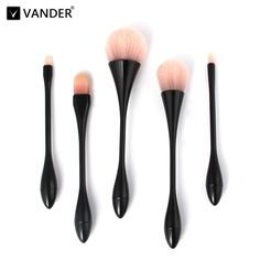 14.57$  Watch here - http://alibw9.shopchina.info/go.php?t=32795726515 - Vander 5pcs Professional Makeup Set Powder Foundation Eyeshadow Concealer Cosmetic Blending Pencil Kabuki MULTIPURPOSE Brushes 14.57$ #magazineonline