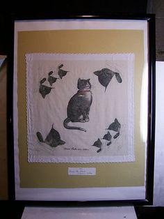 Framed 1945 Chesapeake and Ohio Railroad Handkerchief: Chessie,  Peake and their Kittens.