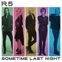 """Sometime Last Night"" de R5. Segundo álbum de estudio de la banda de pop rock estadounidense R5.    Contiene: All night ; Wild hearts ; Dark side ; Let´s not be alone tonight ; Repeating days ; Smile ; Lightning strikes ; F.E.E.L.G.O.O.D. ; I Know you got away ; Do it again ; Did you have your fun ? ; Doctor doctor -- Bonus tracks : I can´t say I´m in love ; Heart made up on you ; Things are looking up easy love ; Stay with me ; Nine lives ; Never be the same Signatura: ICD POP r%"