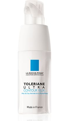 toleriane ultra la roche posay 20ml    PROPERTIES  Sensitive eye contour subject to redness, stinging, ouffiness or sensations of discomfort. Suitable for contact lens wearers.  Moisturizing and ultra-soothing skincare associating the patented [Neurosensine + Niacinamide] complex to target puffiness and discomfort of eye contour with soothing and protective La Roche-Posay Thermal Spring Water.