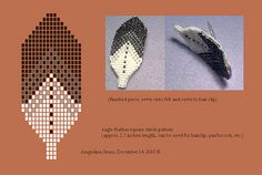 eagle feather pattern + beaded hairclip