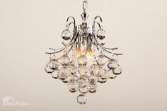 chrome / crystal chandelier