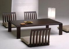 Japanese style low table and chairs