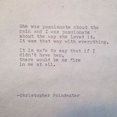 The Universe and Her, and I poem #144 written by Christopher Poindexter